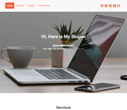 Orange Bootstrap Template